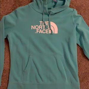 Aqua north face hoodie